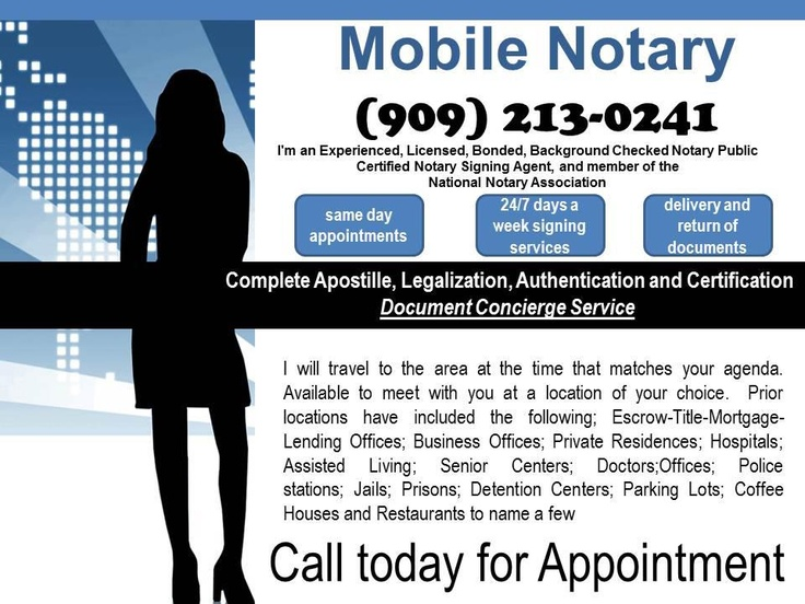 Gladys Notary signing agent, Notary public