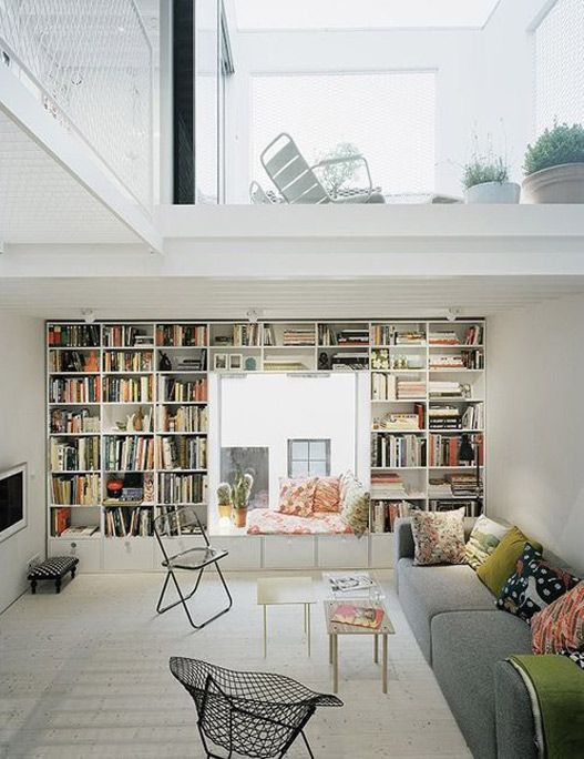lofty design shelves wall. This is my dream living room  all white a bookshelf wall window nook 49 best Loft images on Pinterest Home ideas Sweet home and