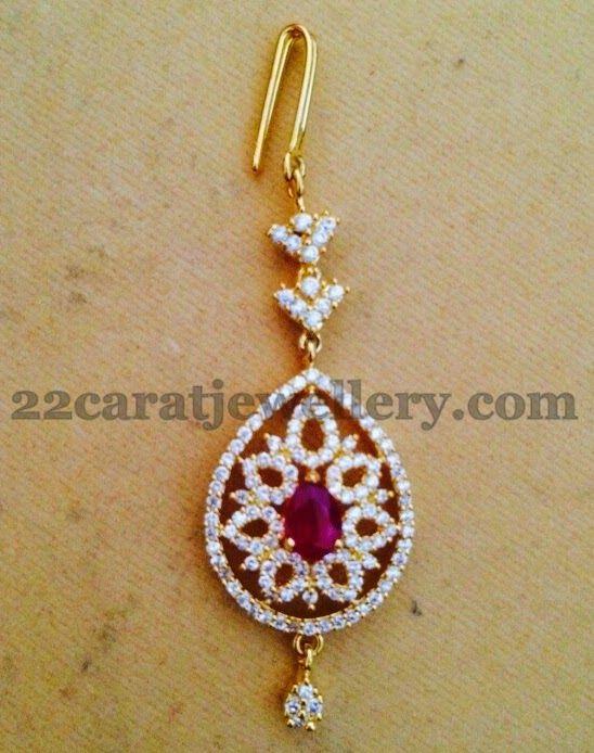 Jewellery Designs: 1 Gram Gold Tikka Designs