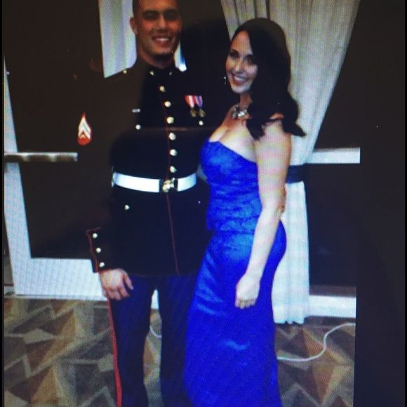 Blue Ball Gown Only worn once two years ago for a Marine Corp Ball. Gorgeous gown & lighweight! Dresses Prom