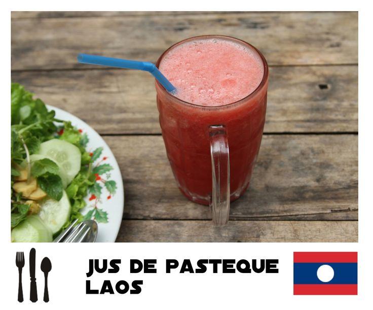 ► NowMadNow ►Jus de pastèque au Laos   budget nourriture tour du monde asie europe canada voyager fille seule photographie culinaire