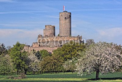 Castle Burg Münzenberg - Staufer castle. It is a ruined castle in the town of the same name in Germany, dating from the 12th century and is one of the best preserved castles from the High Middle Ages in Germany.
