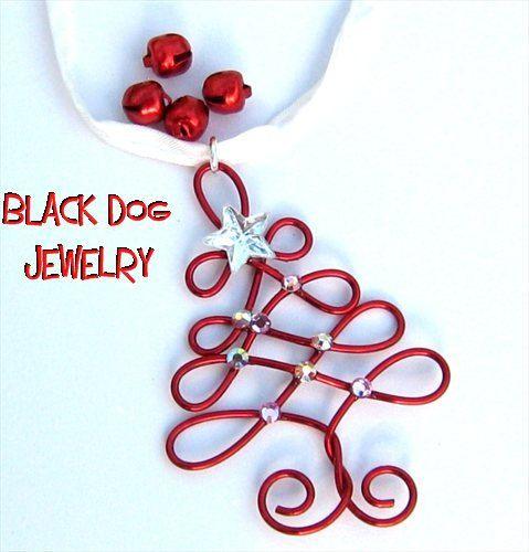 Wire Christmas Tree Necklace. $15.00, via Etsy.