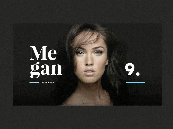 B/beauty Profile by JP  actress  animation  article  content  design  gif  interaction  megan fox  principle  sidebar
