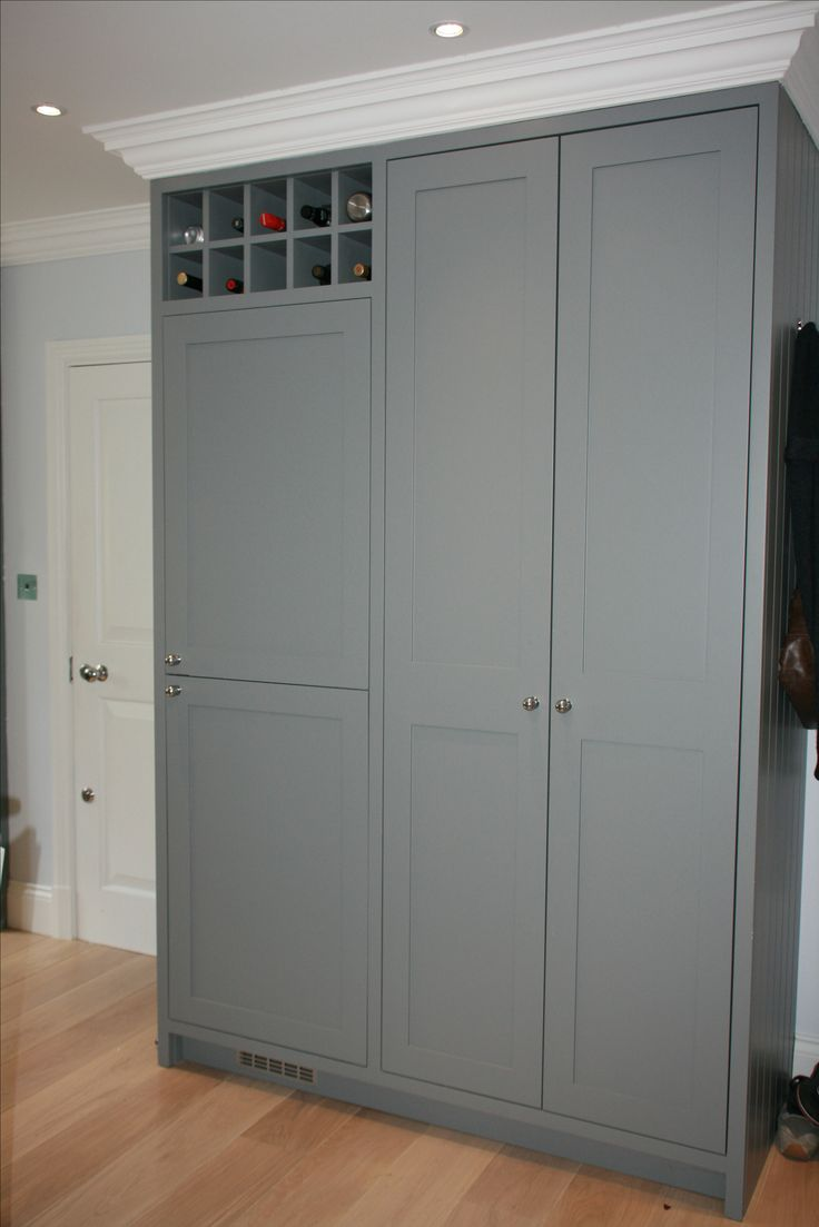 Built in fridge and larder unit