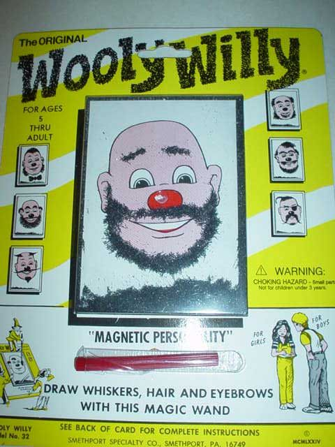 Wooly Willy — more often than not, Willy ended up with a flip or a beehive instead of a beard...