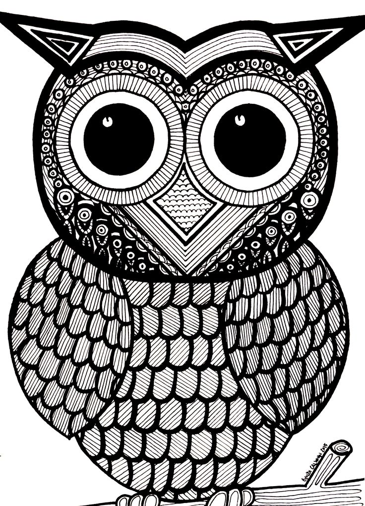 621 Best Images About Coloring Owls On Pinterest Adult