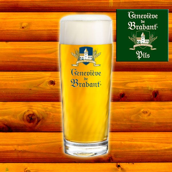 Geneviève de Brabant draught beer Pils. This delicious beer surprises the palate with a slightly bitter taste.