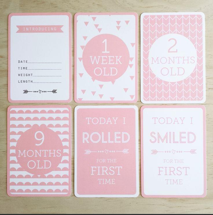 http://www.ruggabub.com.au/unique-gifts/peach-baby-milestone-cards/ Peach Baby Milestone Cards - Ruggabub Boutique