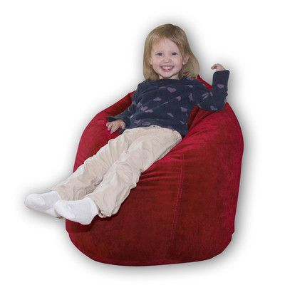 Baby Bean Bag Chair Color Scarlet Suede