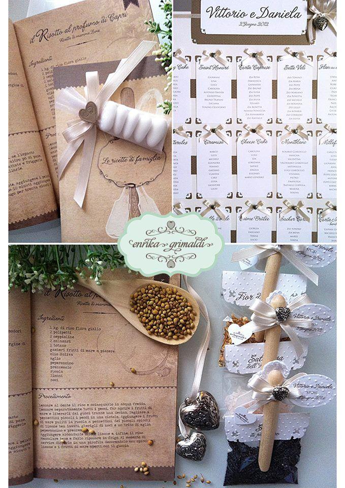 Bomboniera #ricette di famiglia #segnaposti spezie e #tableau  enrika grimaldi design