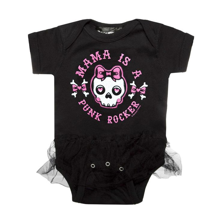 Mama Is A Punk Rocker Tutu Baby Body