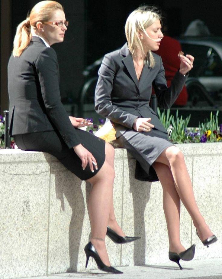 Business women upskirt