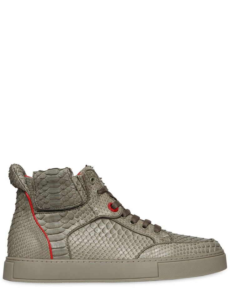 ROYAUMS - HANDMADE PYTHON HIGH TOP SNEAKERS - LUISAVIAROMA - LUXURY SHOPPING WORLDWIDE SHIPPING - FLORENCE