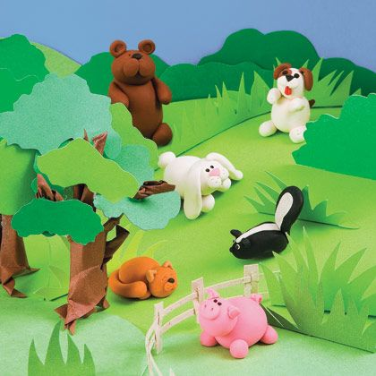 31 fun clay crafts from Familyfun - everyone has play doh, here's inspiration!