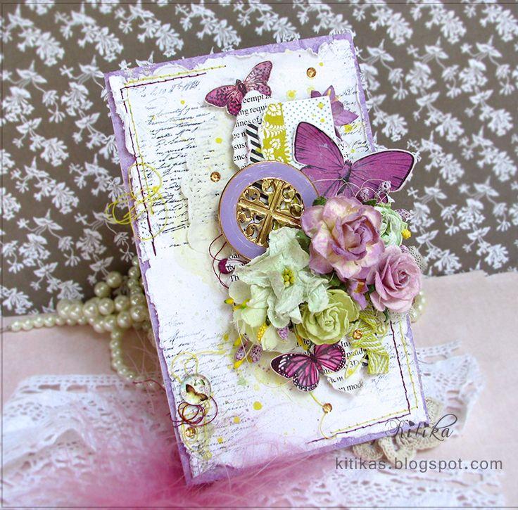 Tangerine Juice- Мандариновый Сок: открытки и цветы ручной работы - мастер классы: Лилово-мечтательные бабочки и манускрипты - открытка