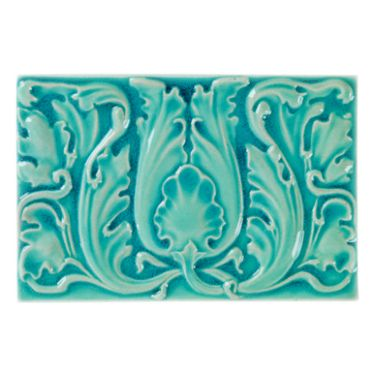 Edwardian Acanthus Embankment - Glazed & Decorated - Shop by tile type - Wall & Floor Tiles | Fired Earth| Bathroom features wall -  Length required:  3 meters Length (This allowes 10% extra)