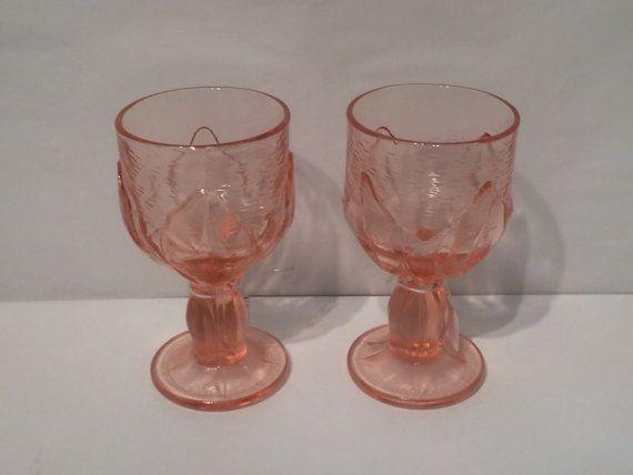 Vintage Pink Franciscan Cabaret Glass by SgtPenguinsLivelyArt 2-set. 22.00 Etsy