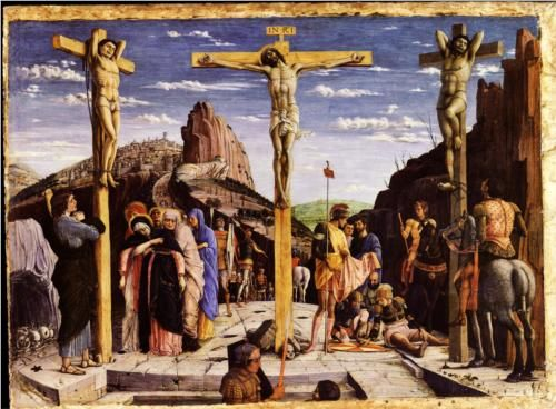 Calvary, central predella panel from the St. Zeno of Verona altarpiece - Andrea Mantegna