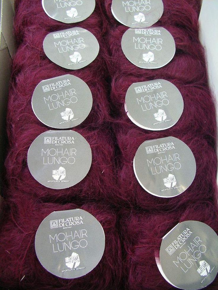 Lana Grossa MOHAIR LUNGO fb. 551 purpur dunkel weinrot 500g/woll-sb-markt