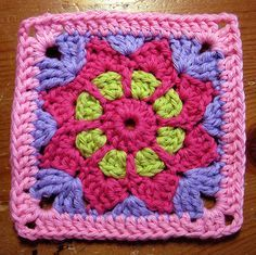 Ravelry: Free SmoothFoxs May Flower - Square 6x6 or Appliqué pattern by Donna Mason-Svara CQ