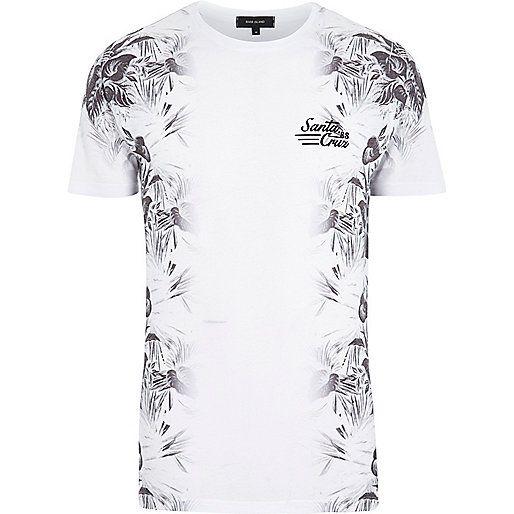 White Santa Cruz floral print t-shirt - print t-shirts - t-shirts / vests - men