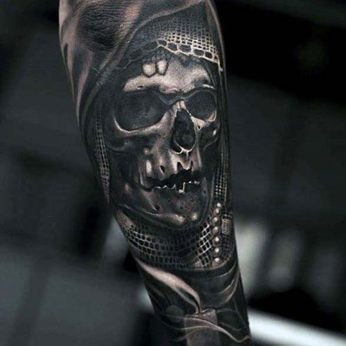 8518a6b463380 Scary 3D Skull Forearm Tattoos - Best Forearm Tattoos For Men: Cool Inner  and Outer Forearm Tattoo Designs, Top Arm Tattoo Ideas For Guys #tattoos ...