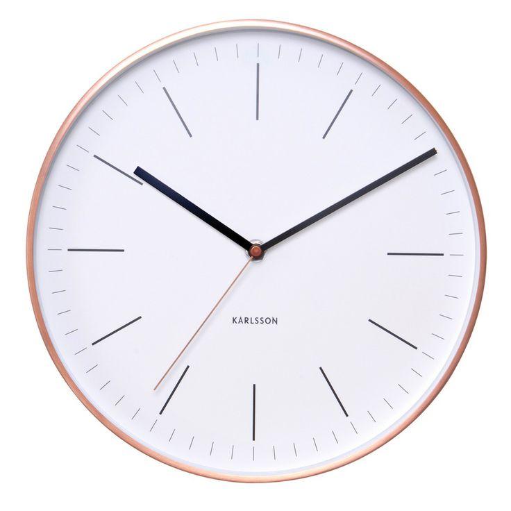 Karlsson Copper Wall Clock Watch White | The Design Gift Shop
