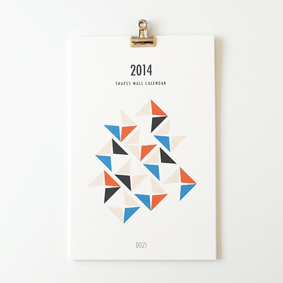 2014 wall calendar  shapes by dozi on Etsy, $22.00