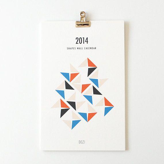 2014 wall calendar - shapes