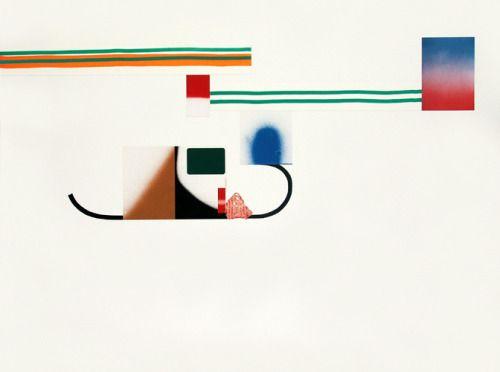Aurelio Ayela Flat Mountain nº16 2005.Rotulador,spray,collage s/papel 150x200cm.