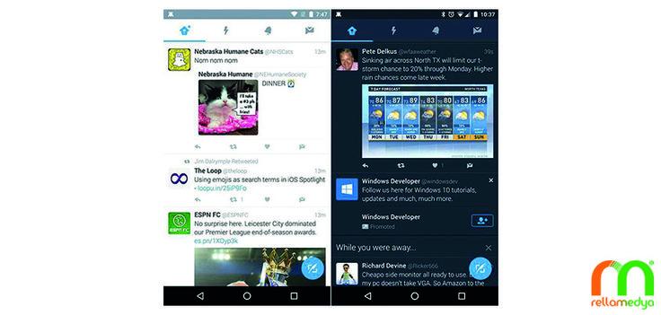 """Twitter'ın Android uygulamasına """"Gece Modu"""" özelliği geldi Devamı; http://www.rellablog.com/twitterin-android-uygulamasina-gece-modu-ozelligi-geldi/ #Rellamedya #Teknoloji #Haber #Twitter #Android"""