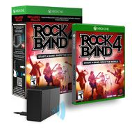 Rock Band 4 seamlessly supports wireless guitars and drums and wired/wireless microphones from previous editions of Rock Band for the Xbox 360 with the use of the included Legacy Game Controller Adapter.  The adapter supports up to four controllers simultaneously and enables players to use their existing Guitar and Drum controllers from Rock Band 3, Rock Band 2 and most third party wireless instrument controllers for the Xbox 360.