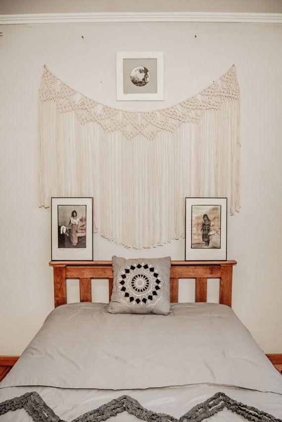 PREZZO PROMOZIONALE! Macrame tenda, attaccatura di parete del macramè, arte muro macrame, macrame vintage, arredamento camera da letto boho, hippy matrimonio, sullo sfondo di nozze