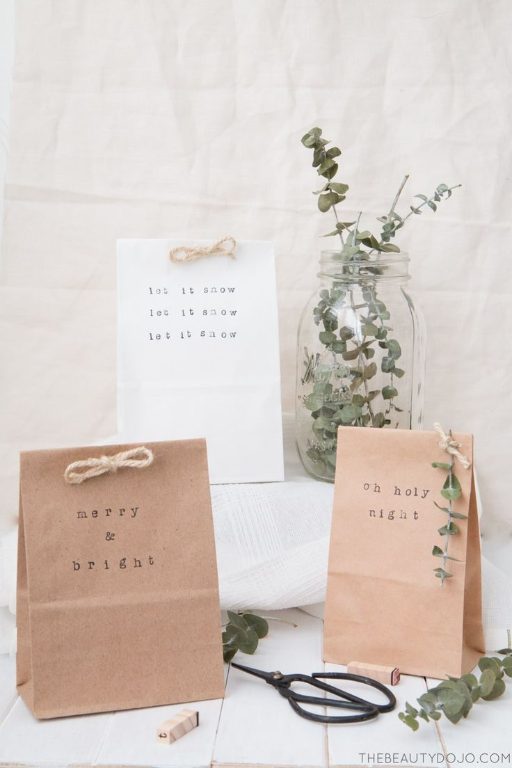 Simple Paper Bag Gift Wrap With Images Diy Gift Bags Paper