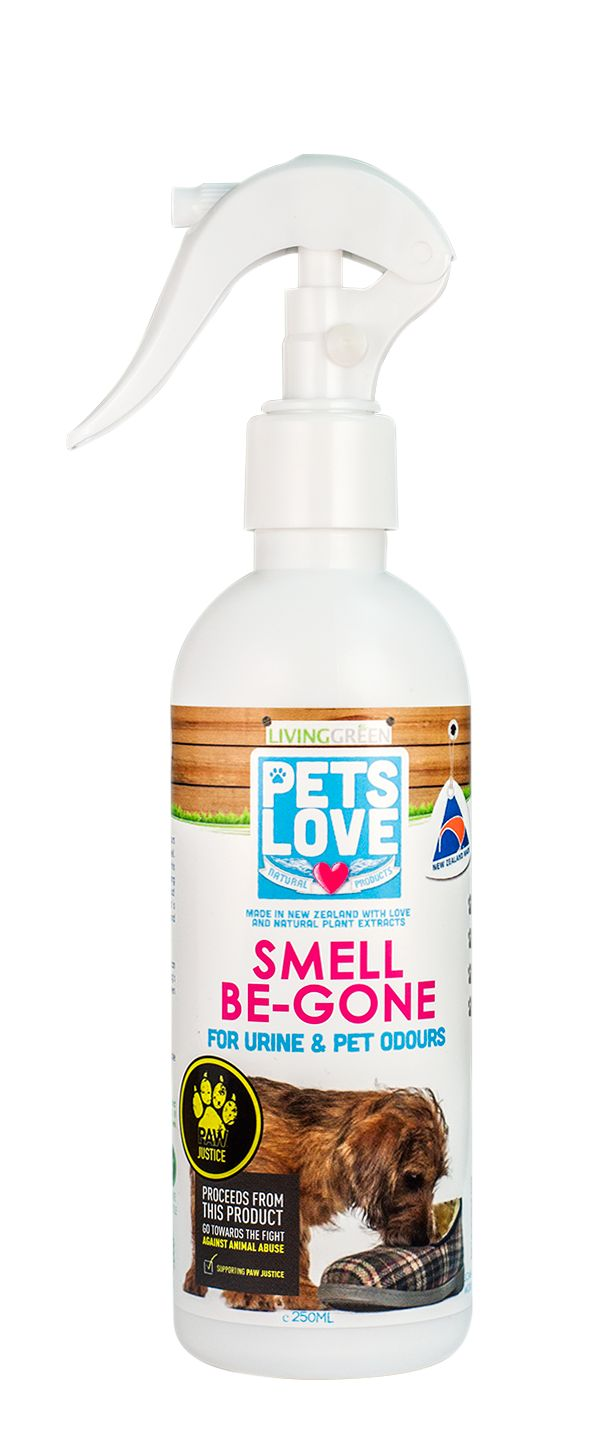 Our Petslove Smell be Gone is great at removing odours created by your pet. This product has a delicious natural apple fragrance.