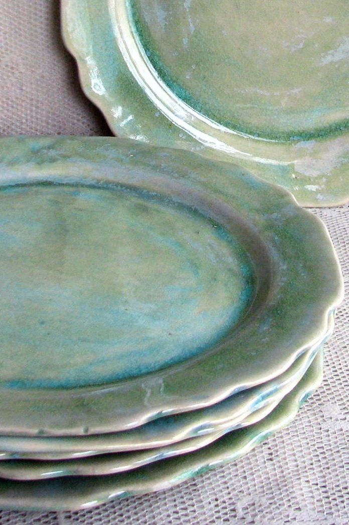 Handmade Stoneware Plates by Leslie Freeman Designs on Etsy