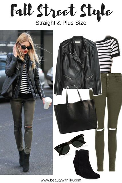 fall street style outfit ideas, casual fall outfit ideas, casual outfits, edgy fall outfits, fall outfit ideas, edgy outfits, how to style olive jeans, olive jeans