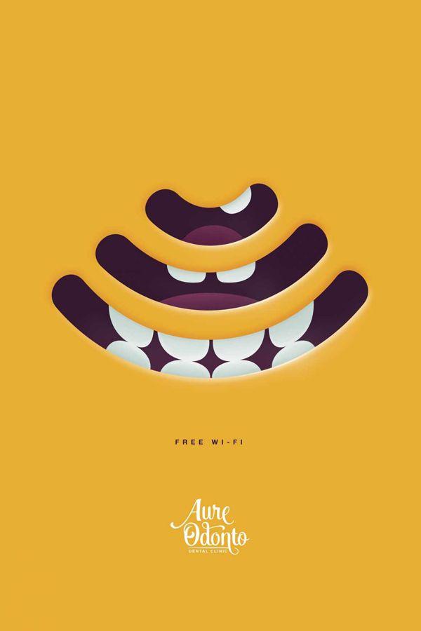Publicité - Creative advertising campaign - Aure Odonto Dental Clinic: Free wi-fi