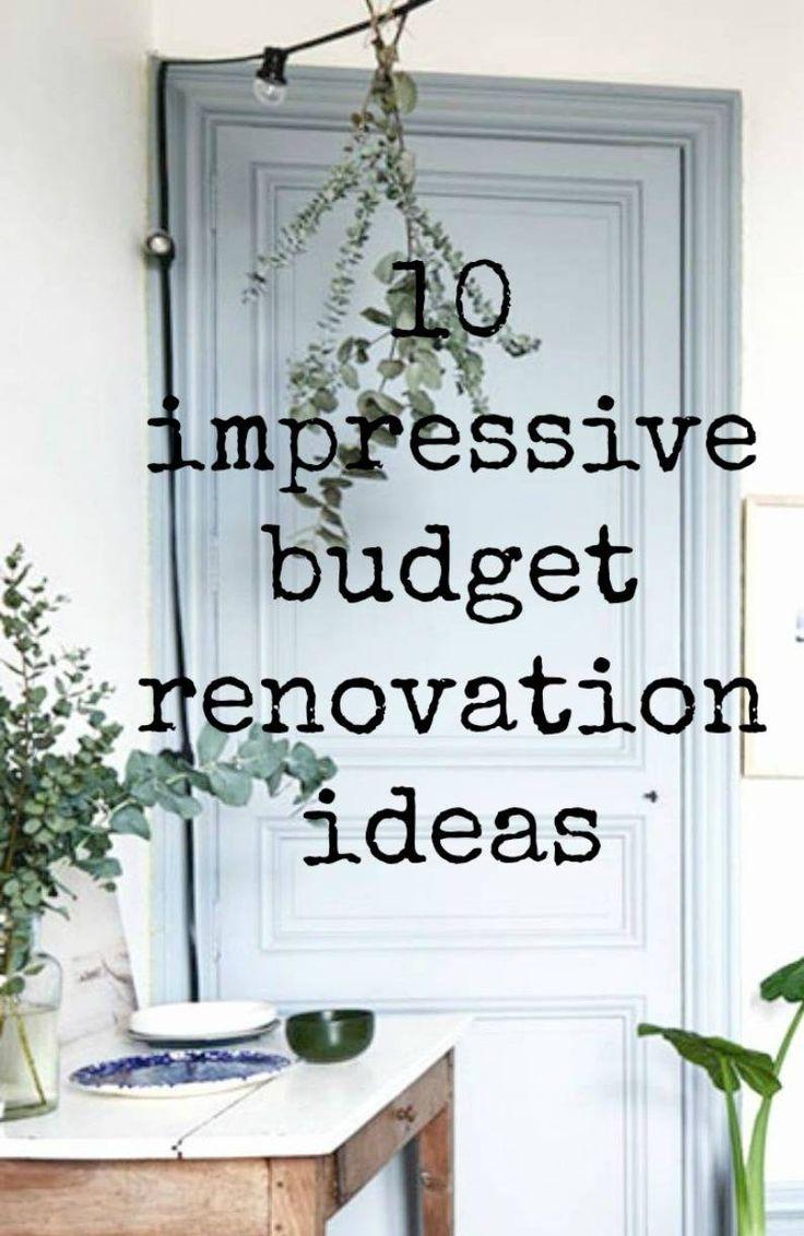 Budget Renovation Ideas Frugal Home Improvement Ideas Trendy