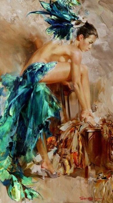 Ivan Slavinsky - Can't get over all the gorgeous movements in his paintings !