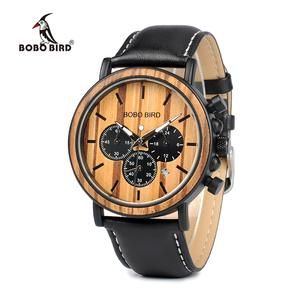 BOBO BIRD Handmade Chronograph Wood Watch
