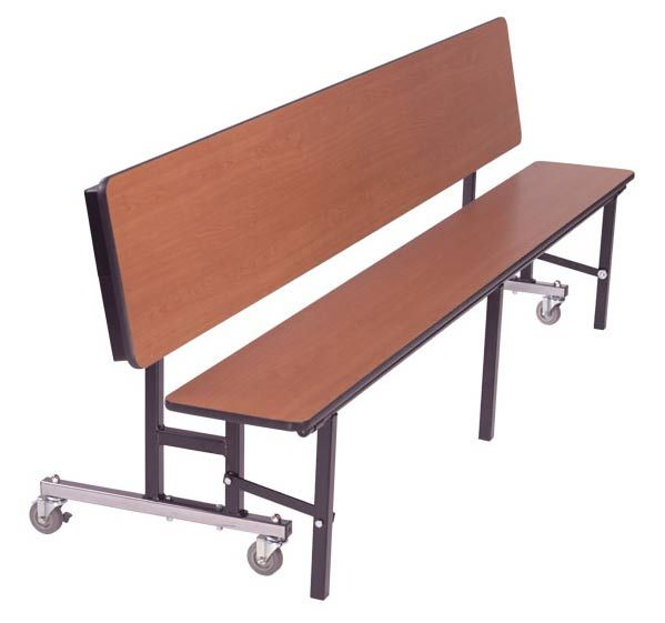 Mobile Convertible Bench Table 7 L Cafeteria Table Convertible Table Dining Room Furniture