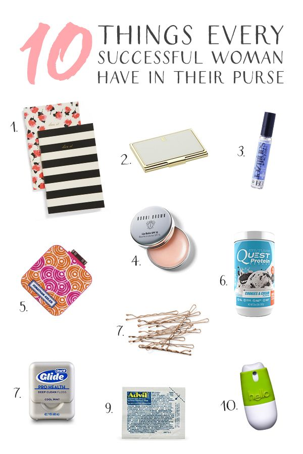 10 Things Successful Women Have In Their Purse Lists I Love Pinterest Purses Essentials And Bags