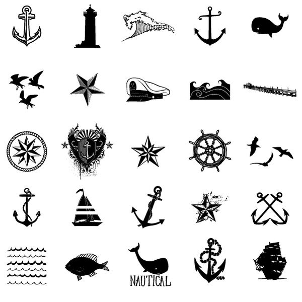 Tattoo inspiration... Nautical Vector Stock Art Set by Ray Dombroski , via Behance