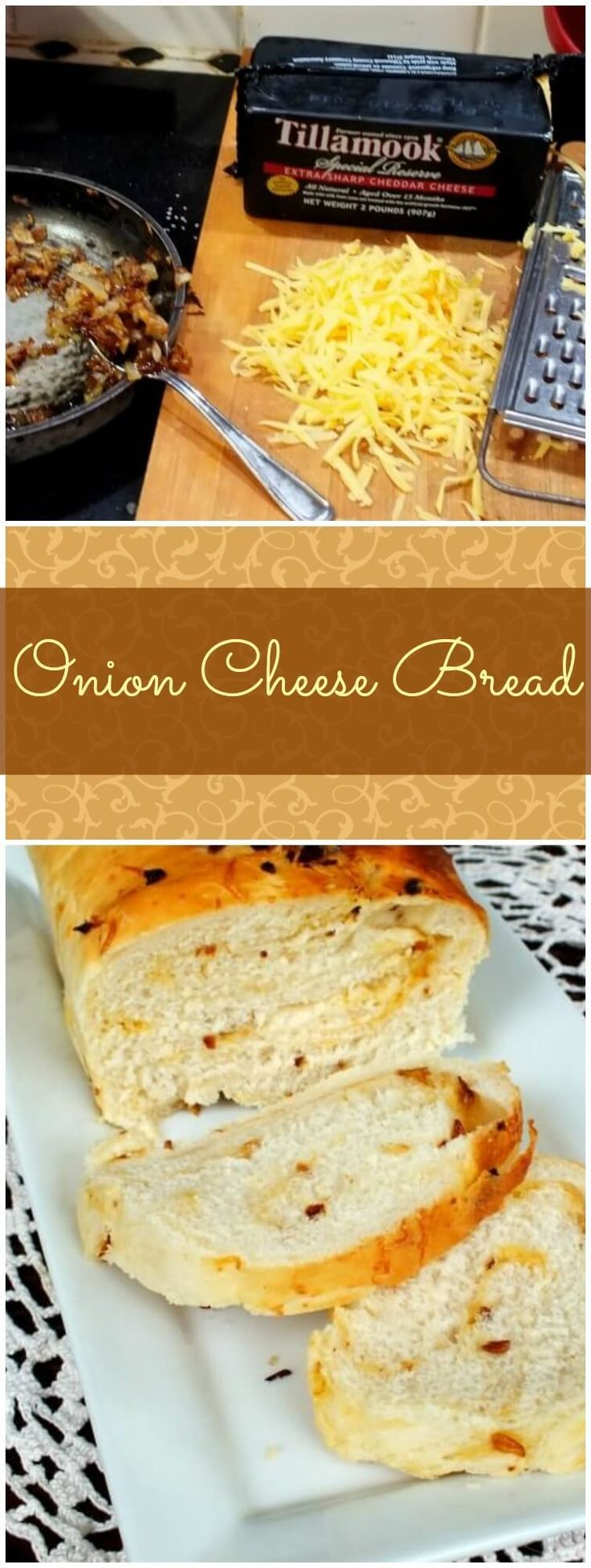 Onion cheese bread is easy to make and SO good! From http://RestlessChipotle.com