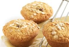 Oat date and honey muffins