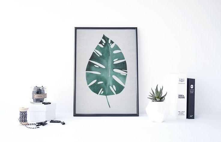 Botanische Poster, groene blad afdrukken, kunst, botanische downloaden, groen blad en grijs, groen Wall Art, Leaf muur kunst, botanische afdrukbare kunst door PrintablePixelArt op Etsy https://www.etsy.com/nl/listing/291839571/botanische-poster-groene-blad-afdrukken