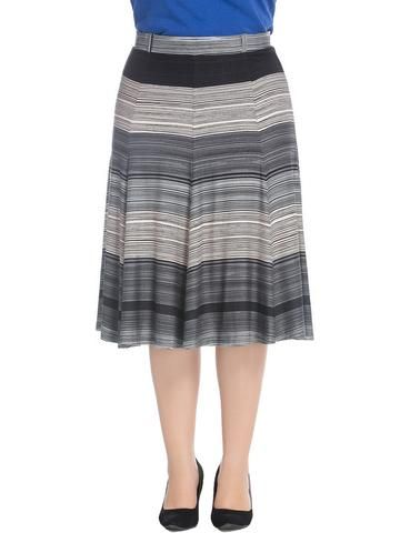92ec1c92a49  Chicwe Women s Plus Size A-Line Flared Skirt Knee-Long with Stretch  Waistband US16-26