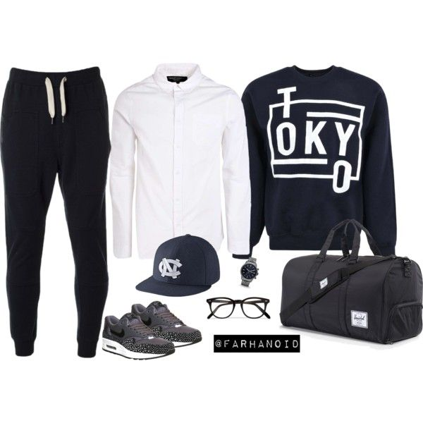 Tokyo Crew by farhanoid on Polyvore featuring NIKE, Evisu, Herschel, Cutler and Gross and FOSSIL